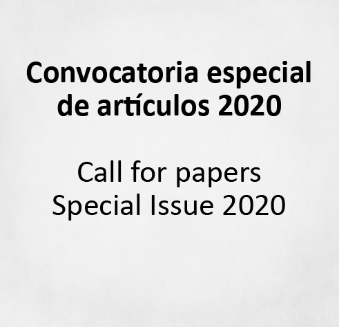 Call for papers Special Issue 2020