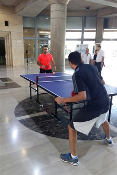 Le tournoi de tennis de table du personnel de l'ULS