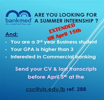 Internships offers available at the CSC